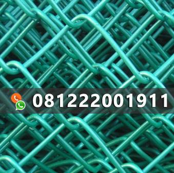 kawat harmonika lapis pvc warna hijau